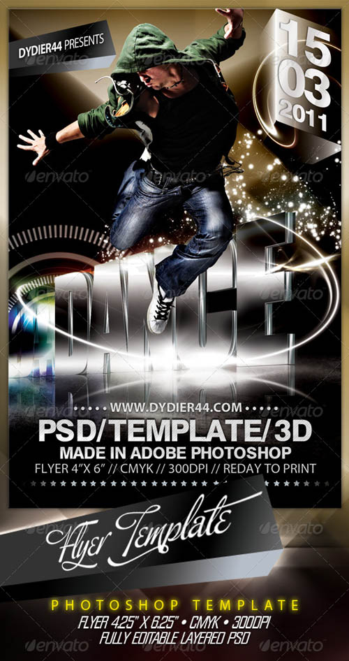 GraphicRiver Extreme 3D (Flyer Template 4x6) - REUPLOAD