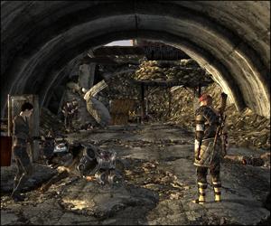 l'acc�s au fort se fait via ce tunnel. �a sent la boucherie.