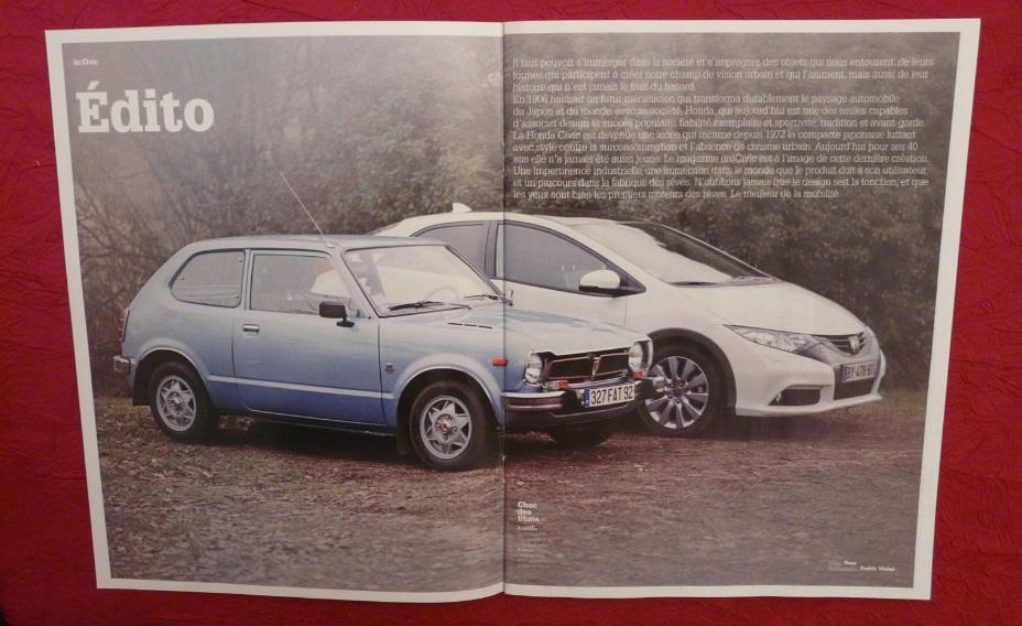 Civic :  l'équipe magazine , Supplément spécial Honda Civ2-317ab98