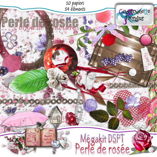Digital Scrapbook Free Mega Kit Part from cocoscrapbook
